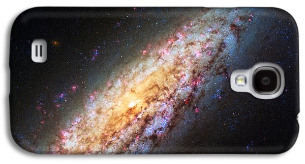Spiral Galaxy Ngc 6503 Galaxy S4 Case by Marco Oliveira