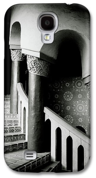 Spiral Stairs- Black And White Photo By Linda Woods Galaxy S4 Case