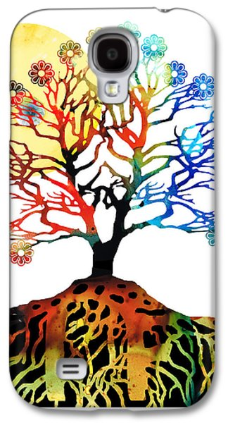 Spiritual Art - Tree Of Life Galaxy S4 Case by Sharon Cummings