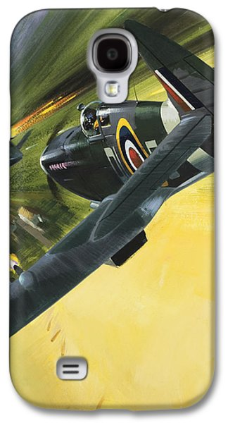 Spitfire And Doodle Bug Galaxy S4 Case by Wilf Hardy