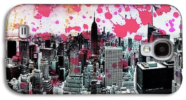 Empire State Building Galaxy S4 Case - Splatter Pop by Az Jackson