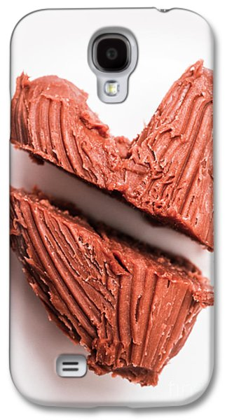 Split Hearts Chocolate Fudge On White Plate Galaxy S4 Case by Jorgo Photography - Wall Art Gallery