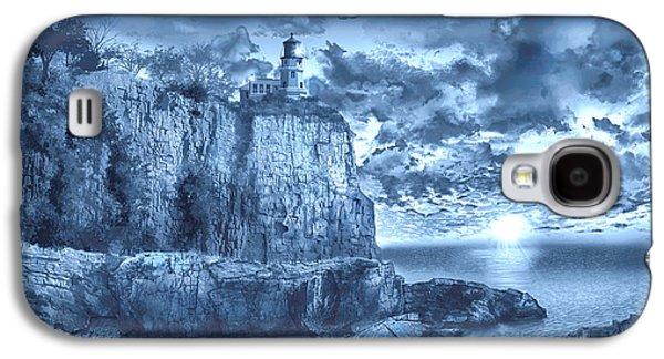 Split Rock Lighthouse Blue Galaxy S4 Case