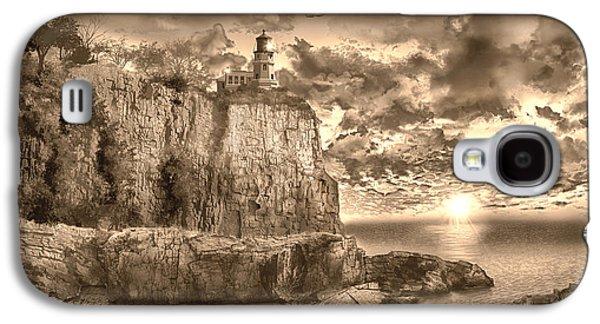 Split Rock Lighthouse Sepia Galaxy S4 Case
