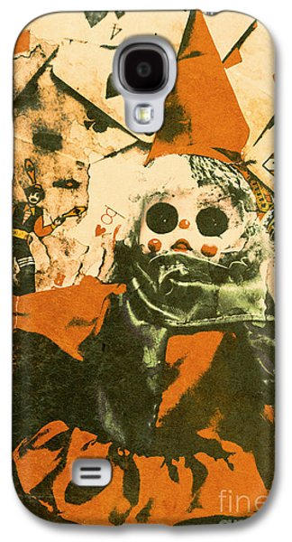 Spooky Carnival Clown Doll Galaxy S4 Case by Jorgo Photography - Wall Art Gallery