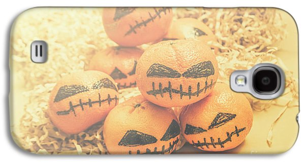 Spooky Halloween Oranges Galaxy S4 Case