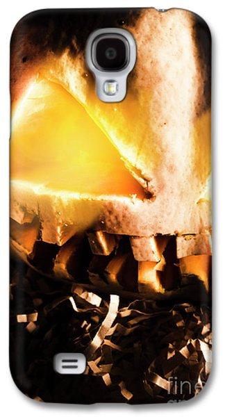 Spooky Jack-o-lantern In Darkness Galaxy S4 Case