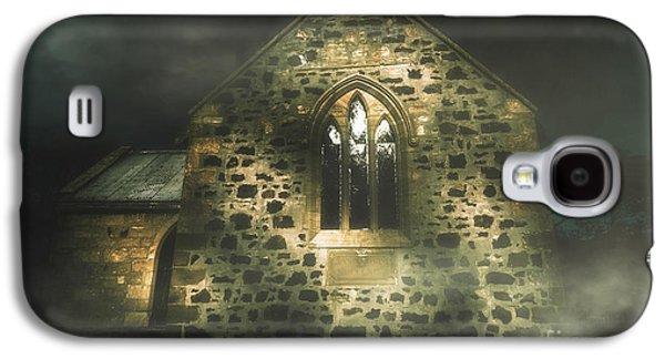 Spooky Stone Church In A Haunted Winters Night Galaxy S4 Case