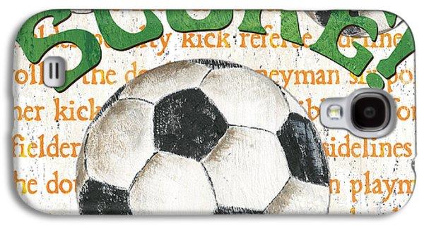 Sports Fan Soccer Galaxy S4 Case by Debbie DeWitt