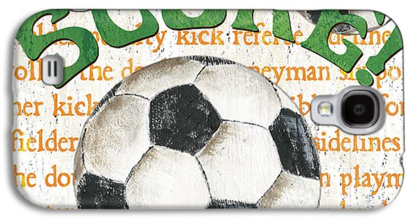 Sports Fan Soccer Galaxy S4 Case by Debbie DeWitt