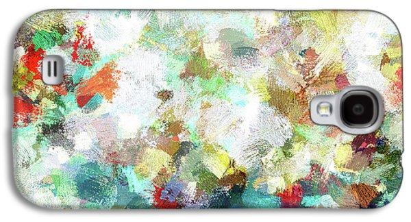 Spring Abstract Art / Vivid Colors Galaxy S4 Case by Ayse Deniz