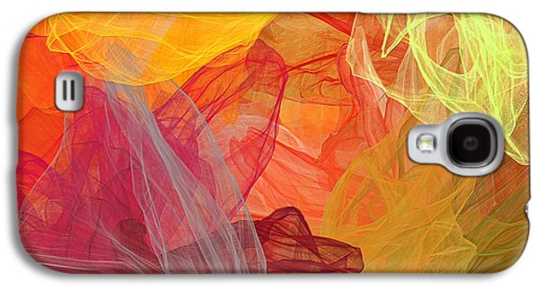 Spring Abundance - Spring Colors Abstract Art Galaxy S4 Case by Lourry Legarde