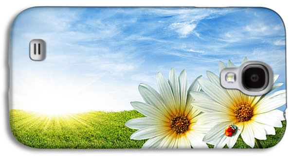 Pasture Scenes Galaxy S4 Cases - Spring Galaxy S4 Case by Carlos Caetano