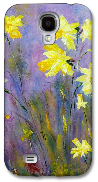 Galaxy S4 Case featuring the painting Spring Daffodils by Claire Bull