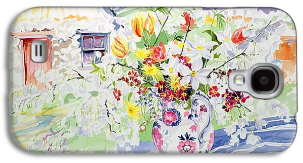 Spring Flowers On The Island Galaxy S4 Case by Elizabeth Jane Lloyd