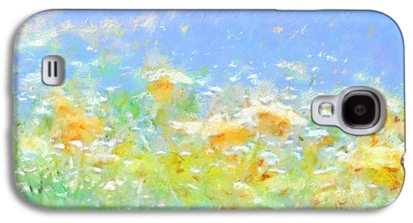 Spring Meadow Abstract Galaxy S4 Case
