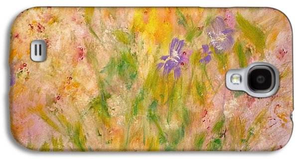 Galaxy S4 Case featuring the painting Spring Meadow by Claire Bull