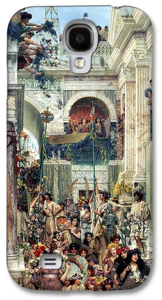 Columns Galaxy S4 Cases - Spring Galaxy S4 Case by Sir Lawrence Alma-Tadema