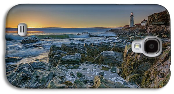 Spring Sunrise At Portland Head Galaxy S4 Case by Rick Berk