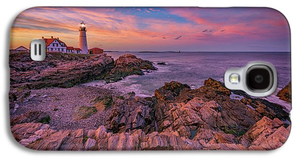 Spring Sunset At Portland Head Lighthouse Galaxy S4 Case by Rick Berk