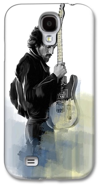 Bruce Springsteen Galaxy S4 Case - Springsteen Bruce Springsteen by Iconic Images Art Gallery David Pucciarelli