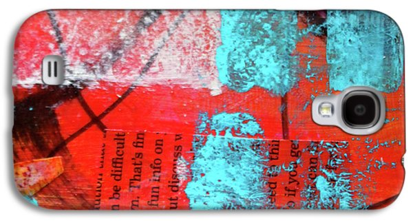 Galaxy S4 Case featuring the mixed media Square Collage No. 10 by Nancy Merkle