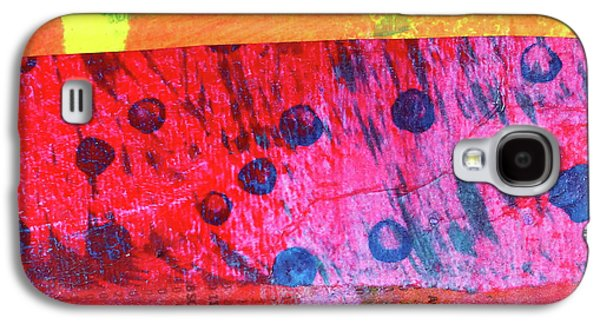 Galaxy S4 Case featuring the painting Square Collage No. 12 by Nancy Merkle