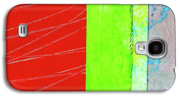 Galaxy S4 Case featuring the painting Square Collage No. 5 by Nancy Merkle