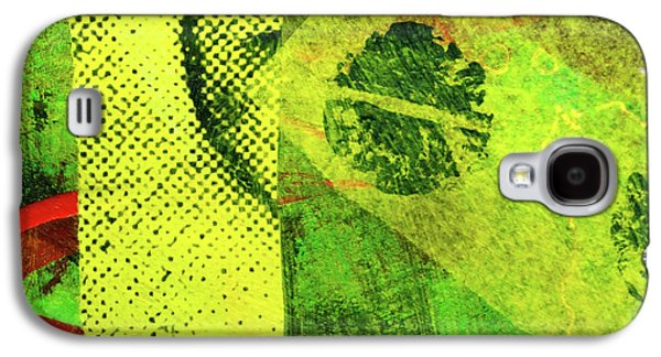 Galaxy S4 Case featuring the mixed media Square Collage No. 8 by Nancy Merkle