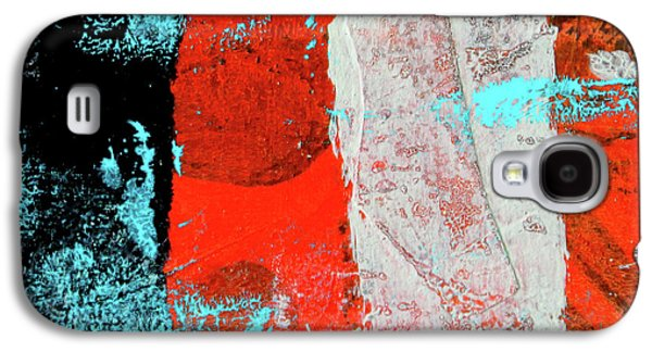 Galaxy S4 Case featuring the mixed media Square Collage No. 9 by Nancy Merkle