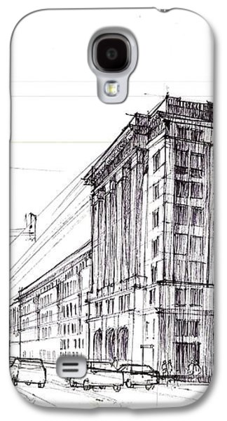 Square Of Constitution Sketch Galaxy S4 Case by Krystian  Wozniak