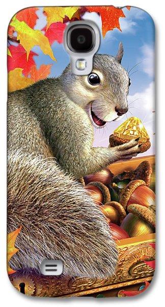 Squirrel Treasure Galaxy S4 Case by Jerry LoFaro