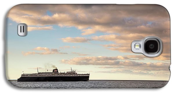 Marquette Galaxy S4 Case - Ss Badger Leaving Port by Adam Romanowicz
