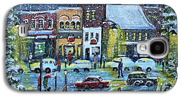 Snowing In Concord Center Galaxy S4 Case by Rita Brown