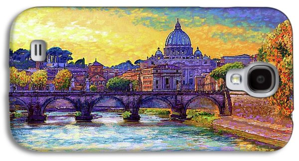 Ancient Galaxy S4 Case - St Angelo Bridge Ponte St Angelo Rome by Jane Small