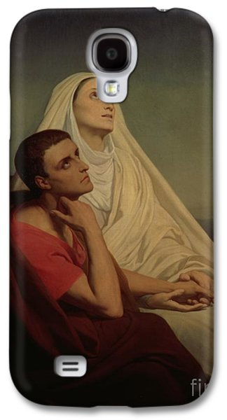 St Augustine And His Mother St Monica Galaxy S4 Case by Ary Scheffer