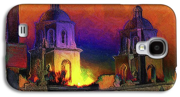St. Augustine Saguarro Sunset Abstract Sketch Compilation Galaxy S4 Case