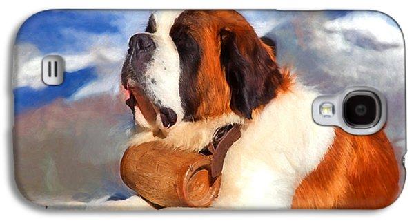 St. Bernard Dog Galaxy S4 Case by Garland Johnson