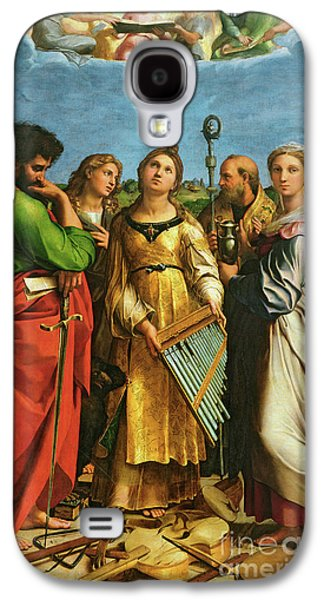 St Cecilia Surrounded By St Paul, St John The Evangelist, St Augustine And Mary Magdalene Galaxy S4 Case