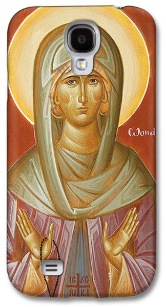 Orthodox Icon Galaxy S4 Cases - St Elizabeth the Wonderworker Galaxy S4 Case by Julia Bridget Hayes