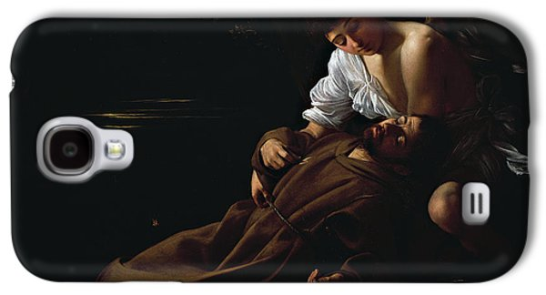 St Francis Being Comforted By An Angel After Receiving Stigmata Galaxy S4 Case by Caravaggio