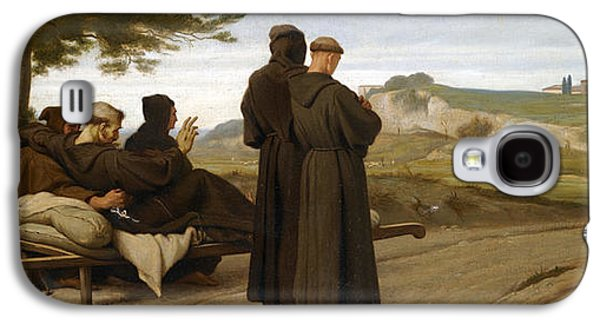 St Francis Of Assisi While Being Carried To His Final Resting Place At Saint-marie-des-anges Blesses Galaxy S4 Case by Francois-Leon Benouville