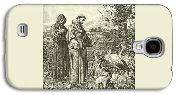 St Francis Preaching To The Birds Galaxy S4 Case by Henry Stacey Marks