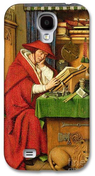 St. Jerome In His Study  Galaxy S4 Case by Jan van Eyck