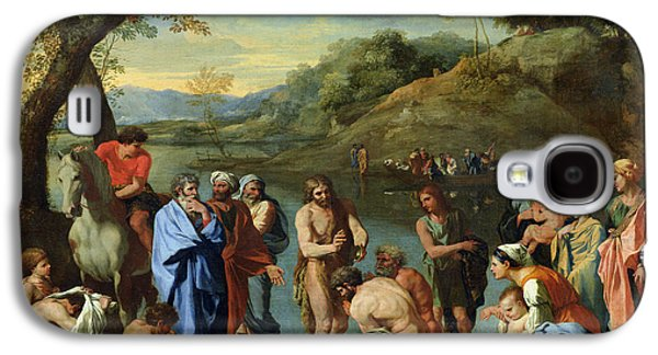 St John Baptising The People Galaxy S4 Case by Nicolas Poussin