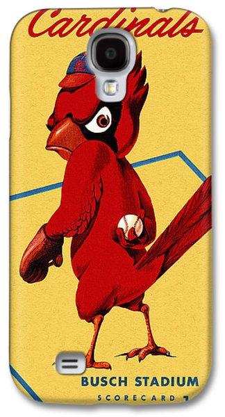 Cardinal Galaxy S4 Case - St. Louis Cardinals Vintage 1956 Program by John Farr
