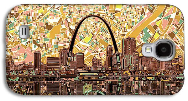 St Louis Skyline Abstract 11 Galaxy S4 Case
