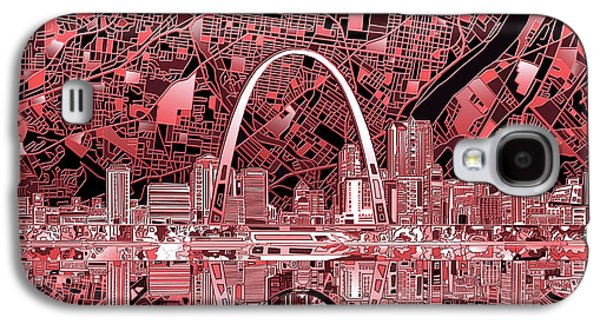 St Louis Skyline Abstract 3 Galaxy S4 Case