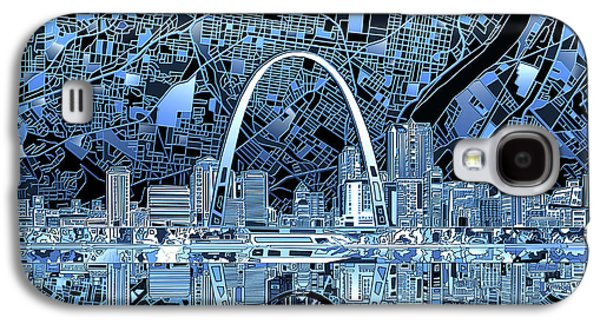 St Louis Skyline Abstract 5 Galaxy S4 Case by Bekim Art