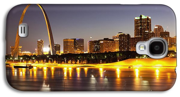 City Scene Galaxy S4 Cases - St Louis Skyline Galaxy S4 Case by Bryan Mullennix